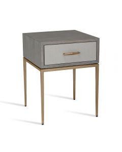 Corinna Bedside Table - Grey