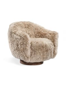 Simone Swivel Chair – Morel Taupe
