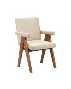 Julian Arm Chair - Cream