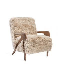 Angelica Lounge Chair - Morel Taupe