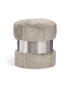 Scarlett Stool - Grey Goat/ Nickel