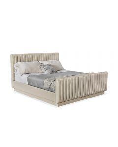 Skylar King Bed - Latte