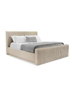 Kayla King Bed - Cream