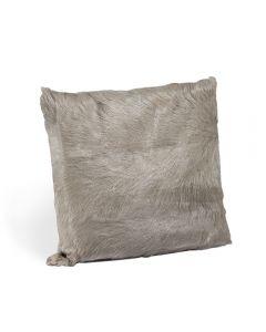Goat Skin Square Pillow - Grey