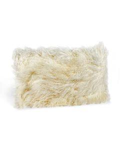 Tibetan Lamb Bolster Pillow - Ivory