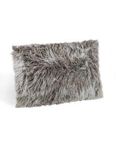 Tibetan Lamb Bolster Pillow - Grey