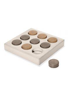 Knox Tic Tac Toe Set - Ivory
