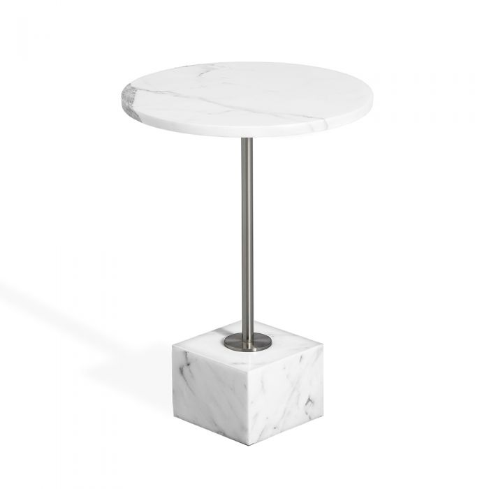 Rian Marble Side Table Arabescato