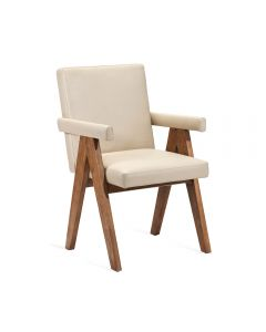 Julian Arm Chair - Cream
