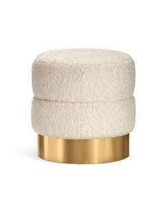 Charlize Stool - Boucle/ Brass