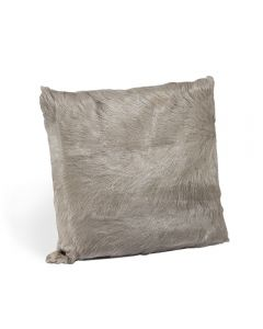 Goat Skin Square Pillow - Grey