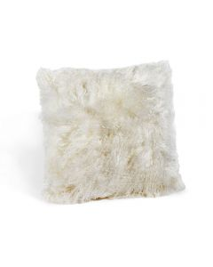 Tibetan Lamb Square Pillow - Ivory