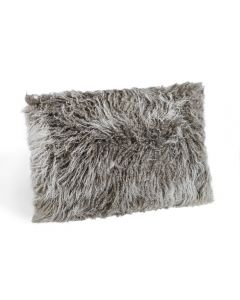 Tibetan Lamb Bolster Pillow - Grey