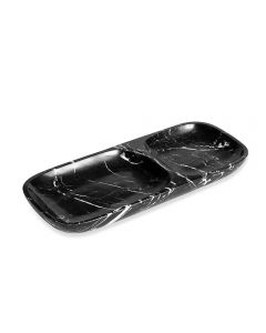 Harlow Dual Section Tray - Black