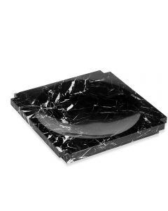Haven Large Marble Candy Dish - Black