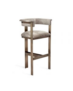 Darcy Hide Bar Stool - Bronze