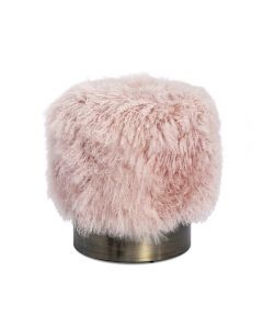 Doutzen Stool - Blush Sheepskin