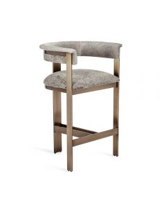 Darcy Hide Counter Stool - Bronze