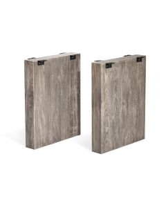 Aspen Slab Dining Base - Rustic Grey