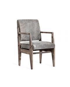 Hale Hide Arm Chair - Rustic Grey