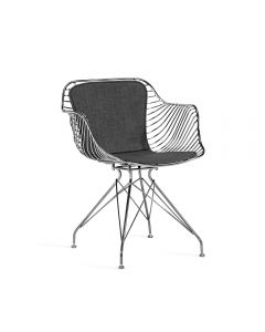 Draper Dining Chair - Gunmetal