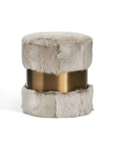 Scarlett Stool - Grey Goat/ Bronze