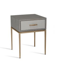 Corinna Bedside Table - Grey