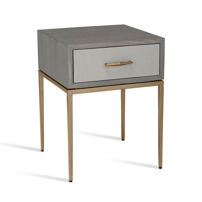 Corinna Bedside Table Grey