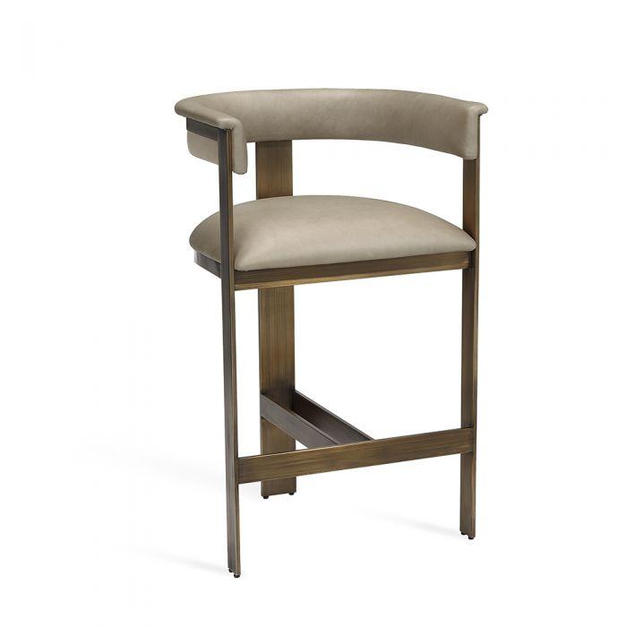 Amazing Darcy Counter Stool Taupe Bralicious Painted Fabric Chair Ideas Braliciousco