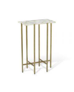 Leonie Rectangular Drink Table - White