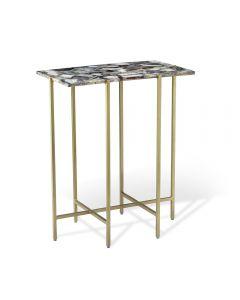 Leonie Rectangular Side Table - Grey