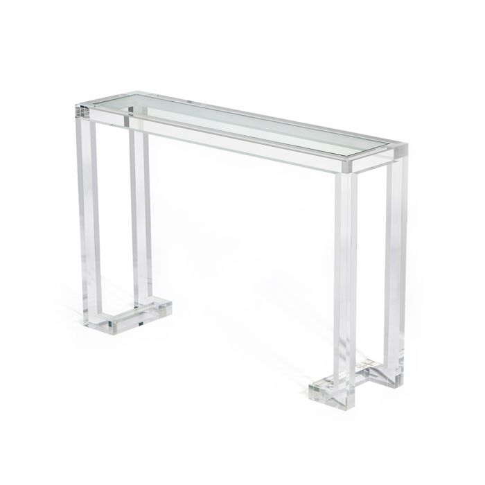 Benefits Clear Console Table